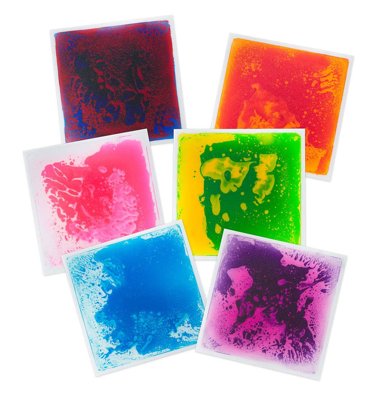 Captivating Color Liquid Tiles Squares Set Of 6 Hearthsong