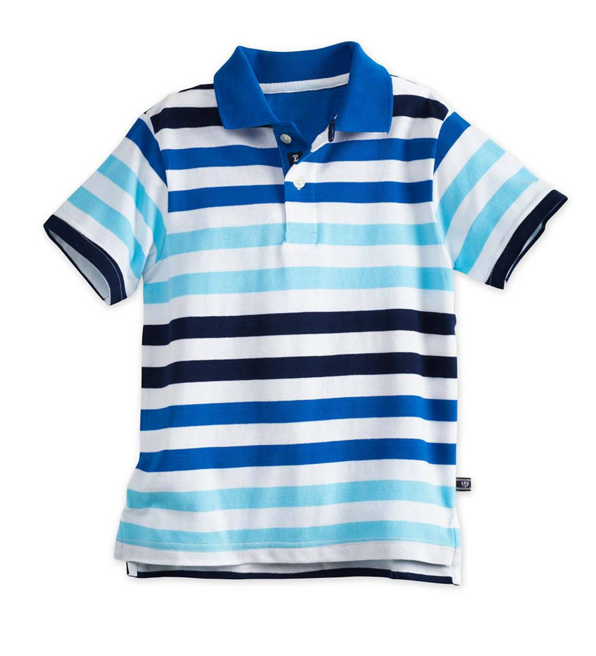Stripe Polo - Teal - 10