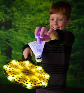 LED Nightball Glow-in-the-Dark Light-Up Badminton Set