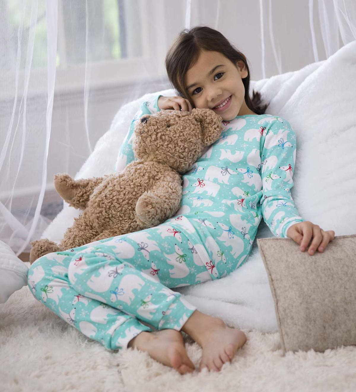 Polar Bear Pajamas - Blue - 12