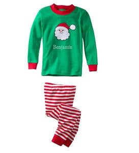 Personalized Santa Pajamas & Tutu - Green - 7