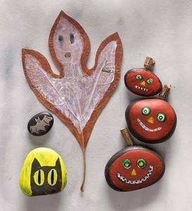 Crafty Creations™ Rock and Leaf Painting Kit