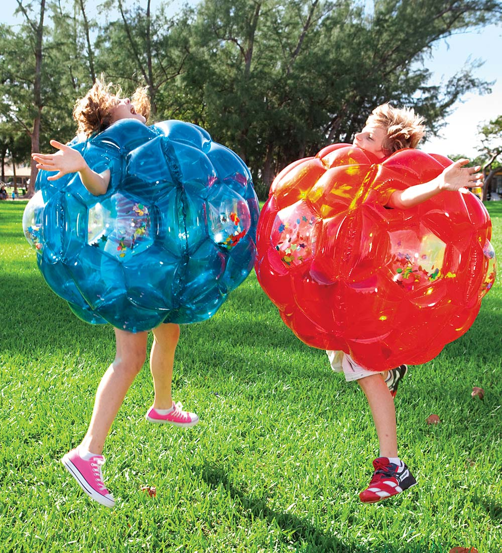 "36"" Inflatable Buddy Bumper Ball with LED Lights and Colorful Confetti"