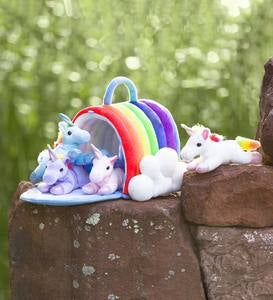 Plush Rainbow Unicorn Play Set