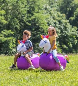 Inflatable Hop 'n Go Unicorns, set of 2