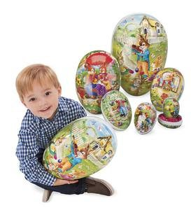 Set of 6 Nesting Decoupage Easter Eggs