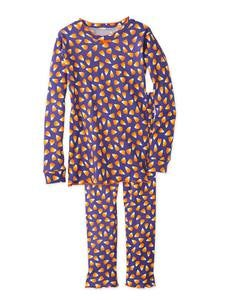 Candy Corn Pajamas Set - Purple - 16