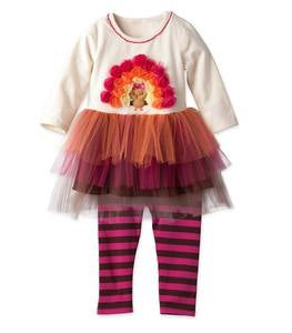 Turkey Dress & Leggings Set