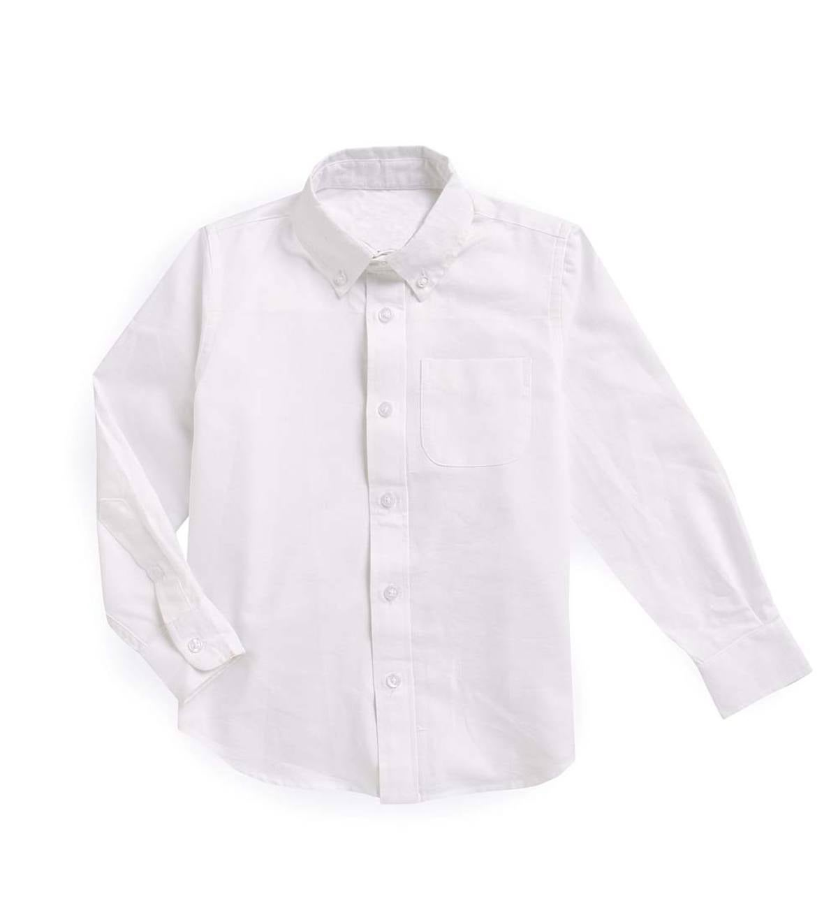 Long Sleeve Oxford Button-Up - White - 4T