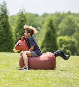 "Inflatable Hop 'n Go Horses, Sturdy Vinyl with Nylon Cover, Set of 2, 48""L x 35""H"
