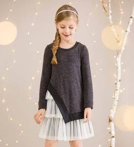 Sweater Overlay Dress