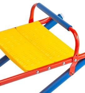 Durable Weather-Resistant Metal Rocking Seesaw with Protective Foam Rockers
