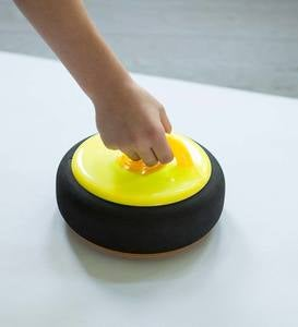 Curling Zone Indoor Game with Hovering Stones