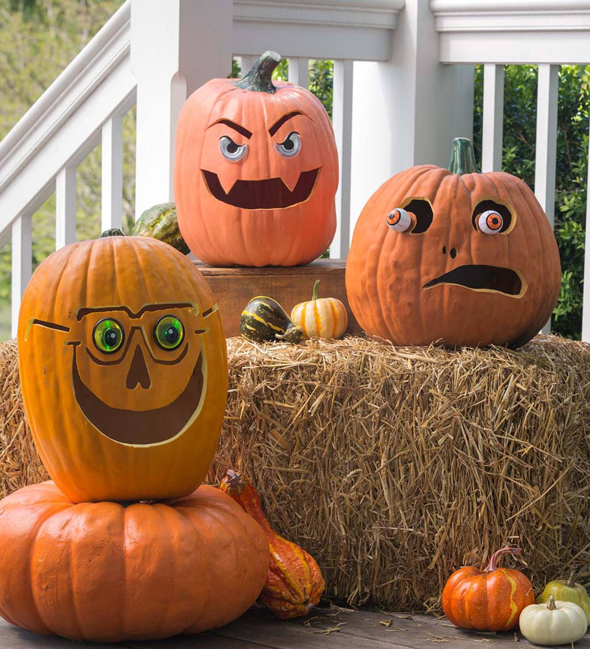 Light-Up Decorative Pumpkin Eyeballs (set of 3)