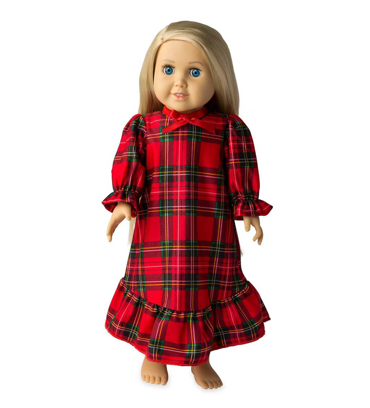 Plaid Doll Gown - Red - ONE