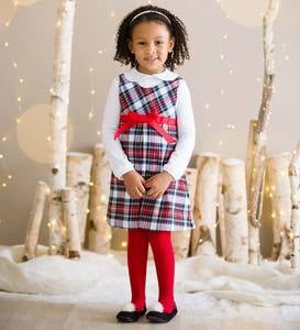 Plaid Dress Set