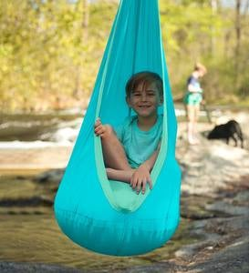 HugglePod Lite Indoor/Outdoor Nylon Hanging Chair with Inflatable Cushion