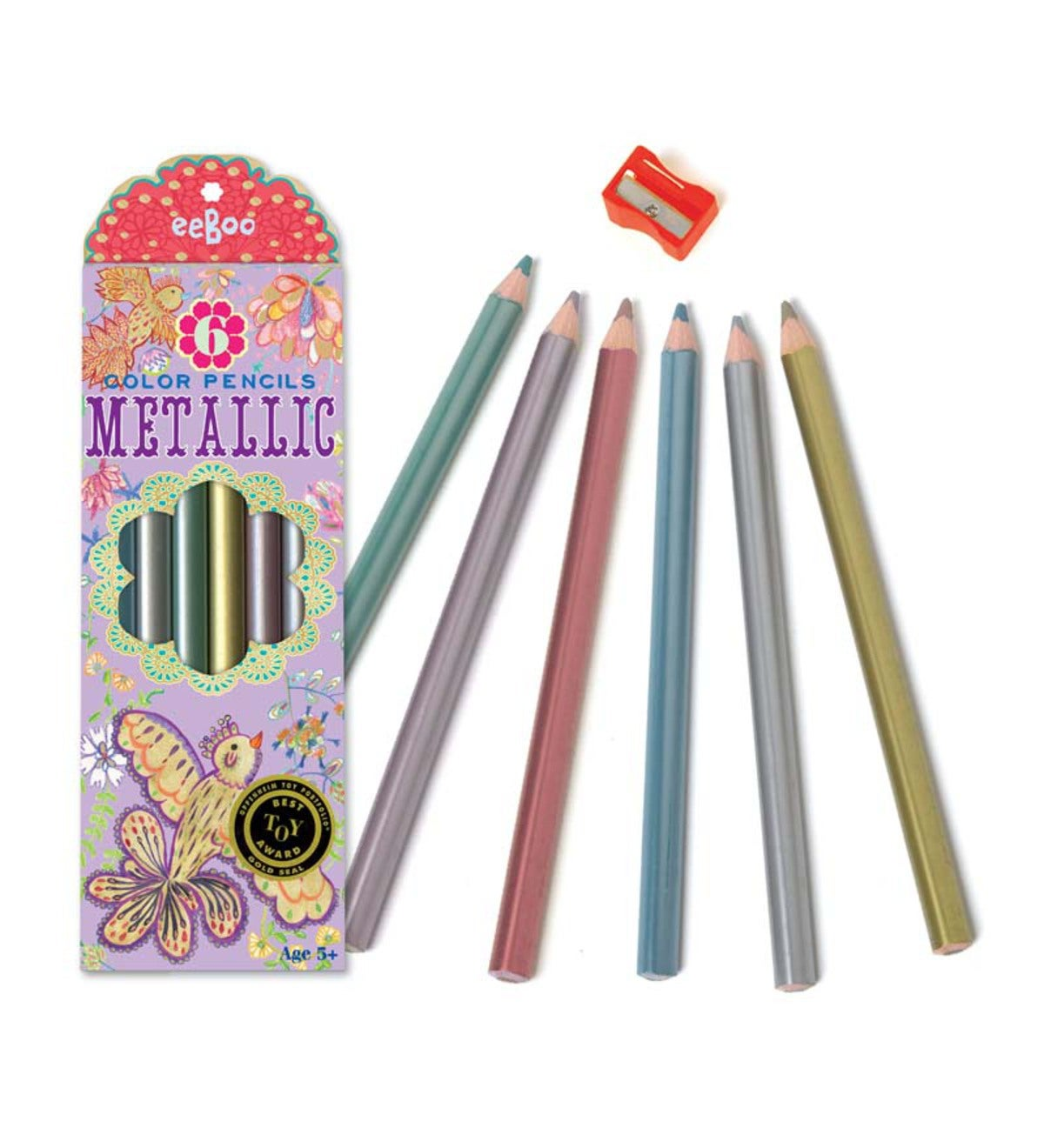 Bird Metallic Pencils, Set of 6