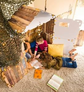 32-Piece Cabin-Themed Indoor Construction Building Set Fantasy Fort™