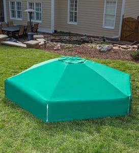 Double-Level Hexagonal Sandbox with Canopy Cover