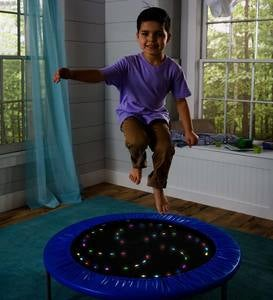 Multi-Color LED Light-Up Trampoline