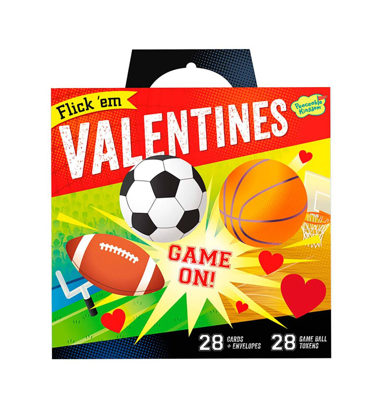 Funny Valentine 28-Card Super Packs by Peaceable Kingdom - Flick 'Em! Sports