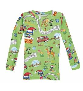 Pete the Cat Saves Christmas Pajamas & Book - Green - 2T