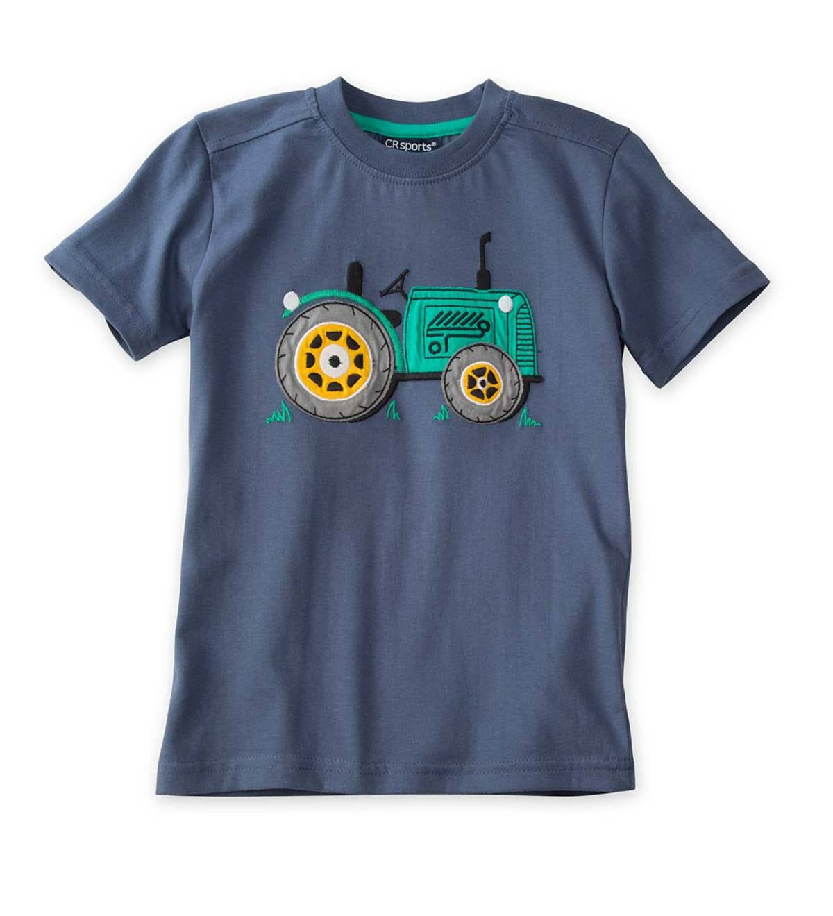 Short Sleeve Tractor Graphic Tee - Navy - 12M
