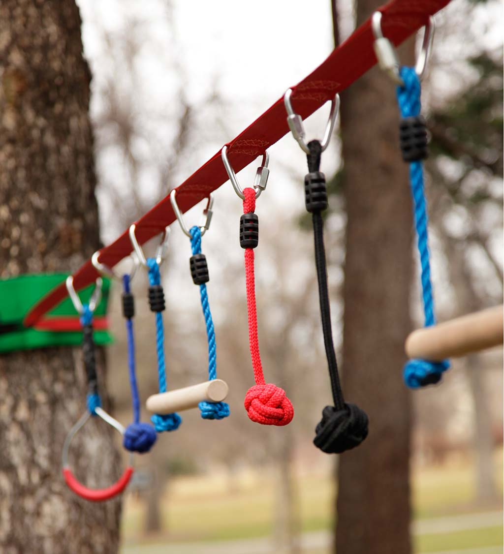 Ninjaline Original 36'L 7-Piece Hanging Obstacle Course Kit