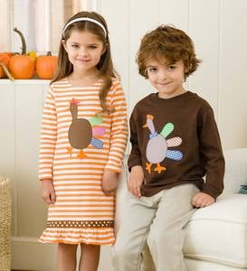 Turkey Dress - Orange - 5