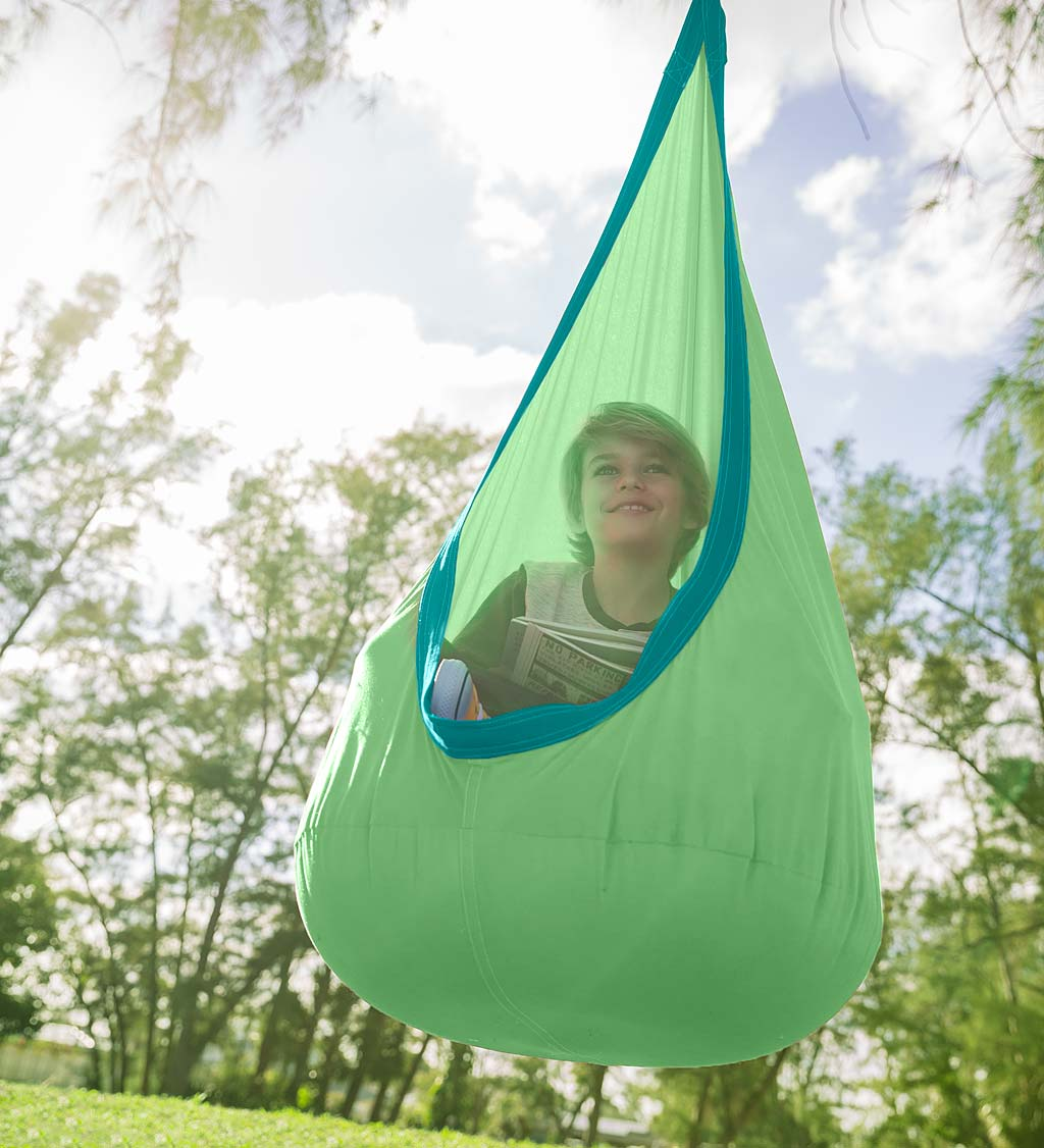 HugglePod Deluxe Indoor/Outdoor Canvas Hanging Chair - Red