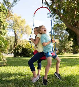 2-in-1 BungeeBounce Swing with Hanging Rings