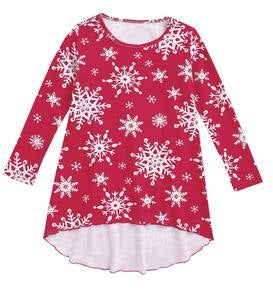 Snowflake Tunic - Red - 16