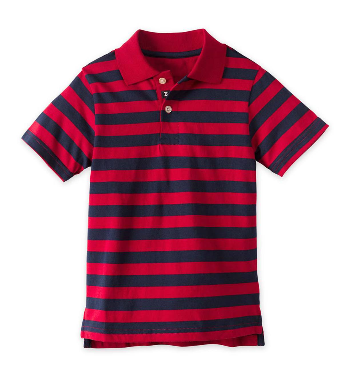 Red Stripe Polo