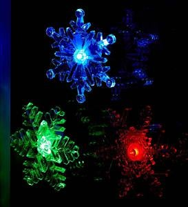 Set of three Light-Up Snowflakes