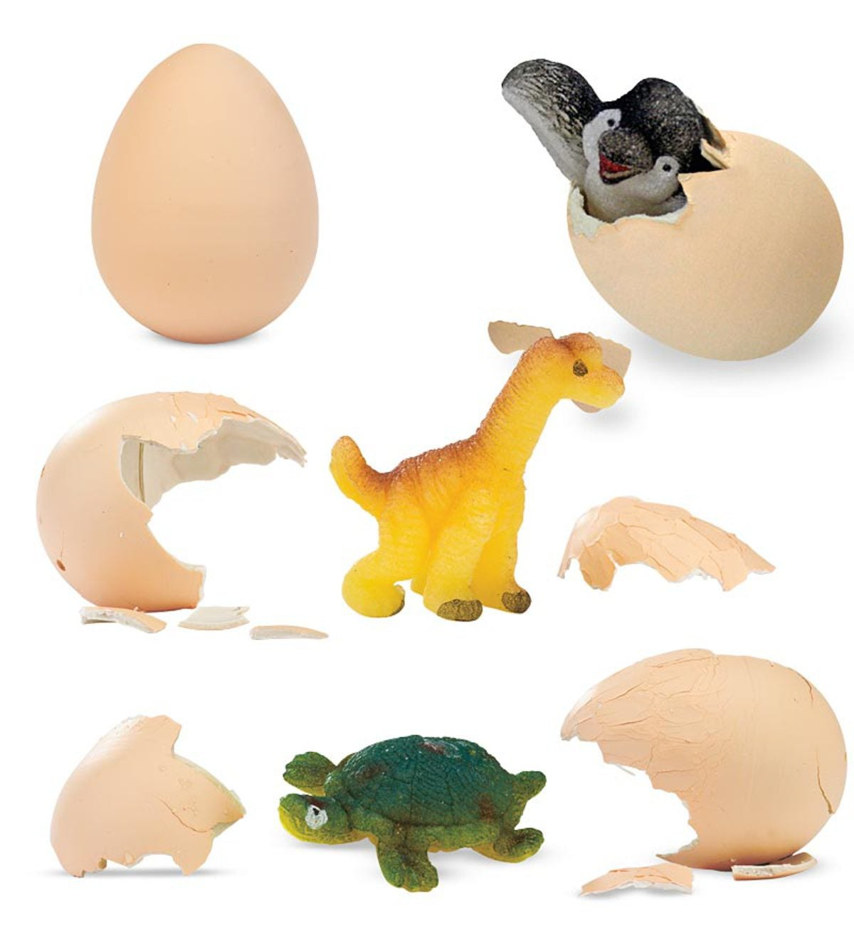Set of 3 Hatch 'Ems Eggs with Baby Animals inside