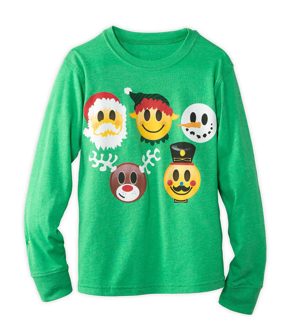 Holiday Emojis Tee - Green - 7