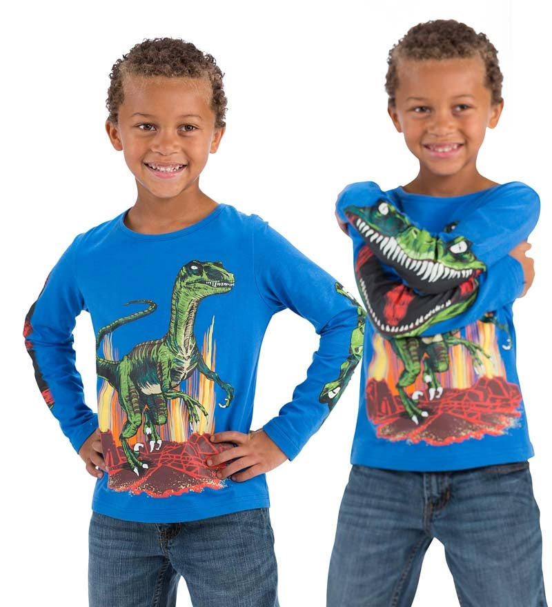 Glow Wild Chomposaurus Tee, Long-Sleeved