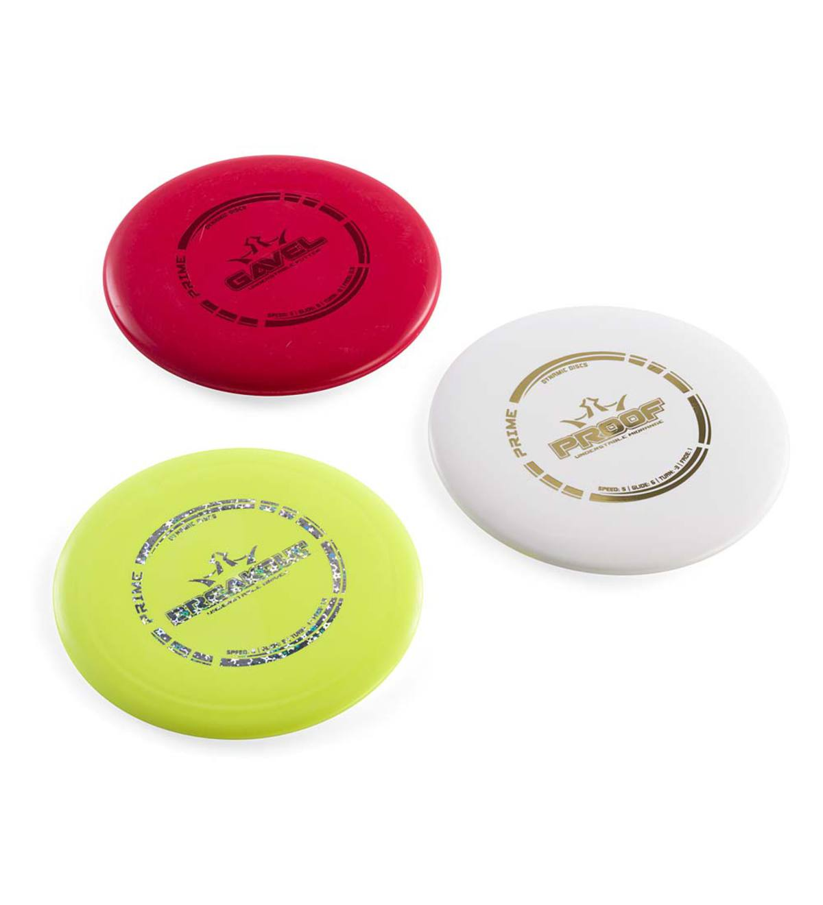 Set of Three Discs for Recruit Disc Golf Game