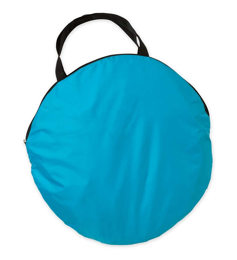 SunShade Pop-Up Pool with UV-Protected Canopy and Carrying Bag - Blue