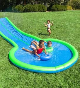 Ultimate Dual Water Slide Sprinkler with Two Speed Boards