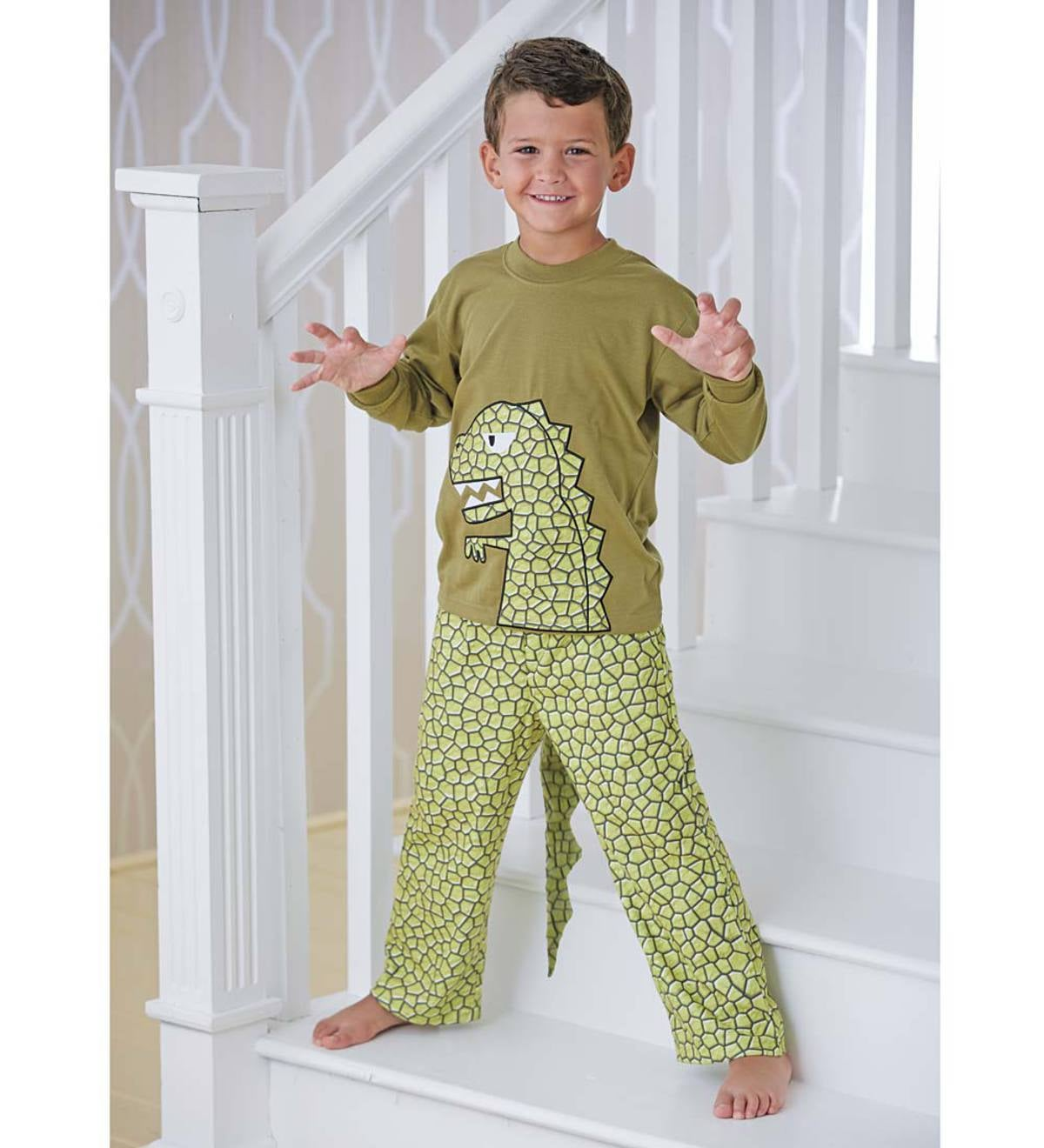Dinosaur Tail Pajamas - Green - 3