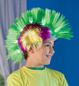 Neon Light-Up Crazy Hair Faux-Hawk