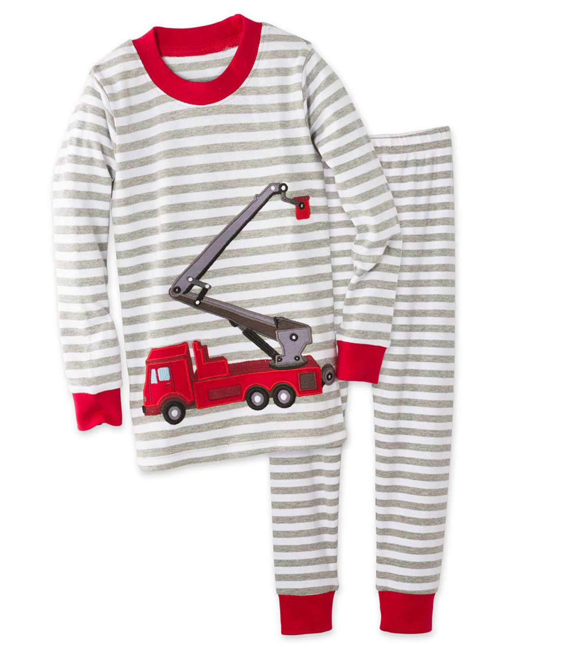 Fire Trucks Pajamas - Red - 4