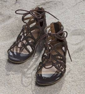 Braided Zip Sandal