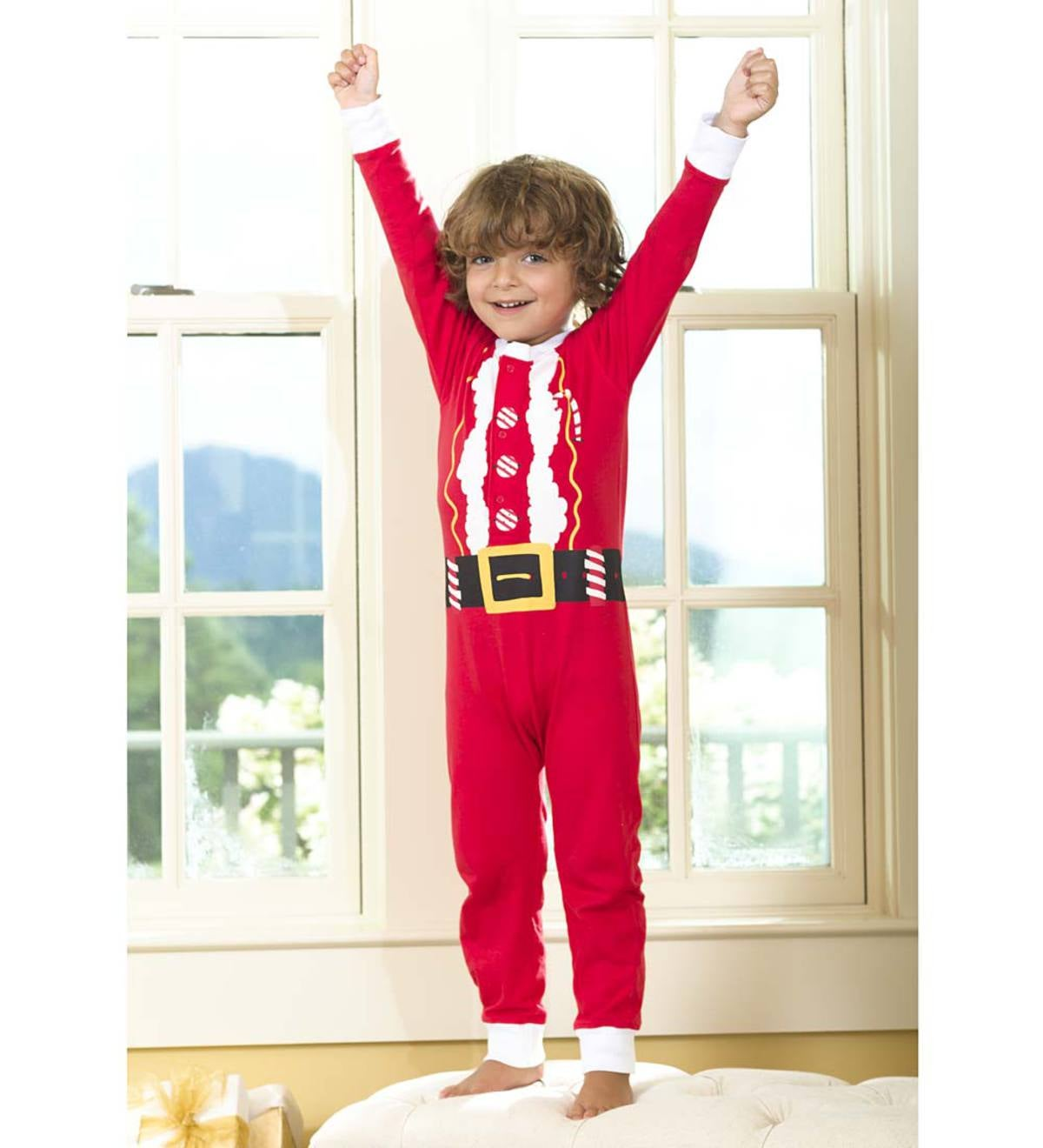 Christmas Union Suit - Red - 24M