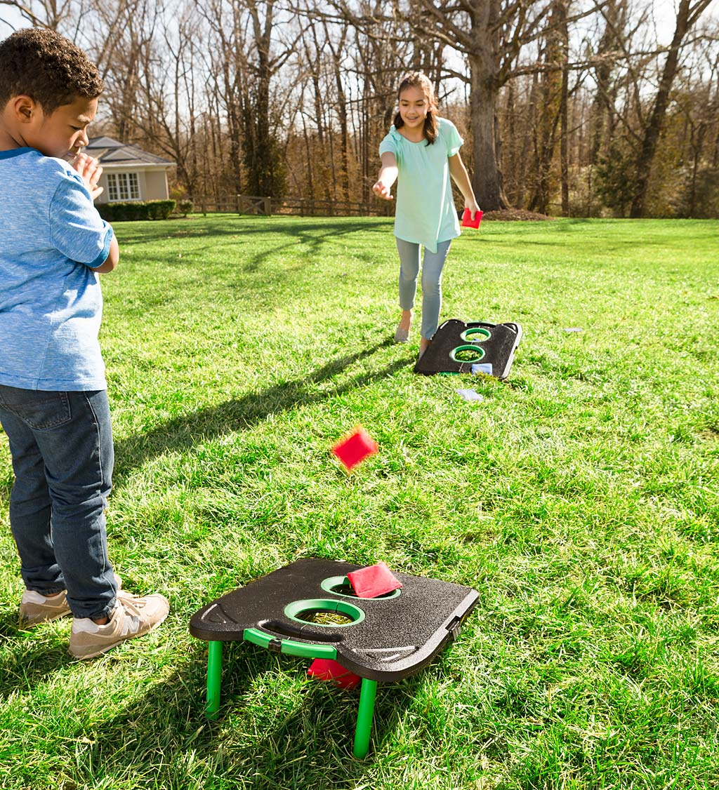 Pick-Up-and-Go Portable Cornhole