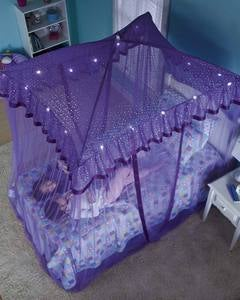 Sparkling Lights Lighted Canopy Bower - Purple