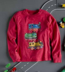 Holiday Train Tee - Green - 6
