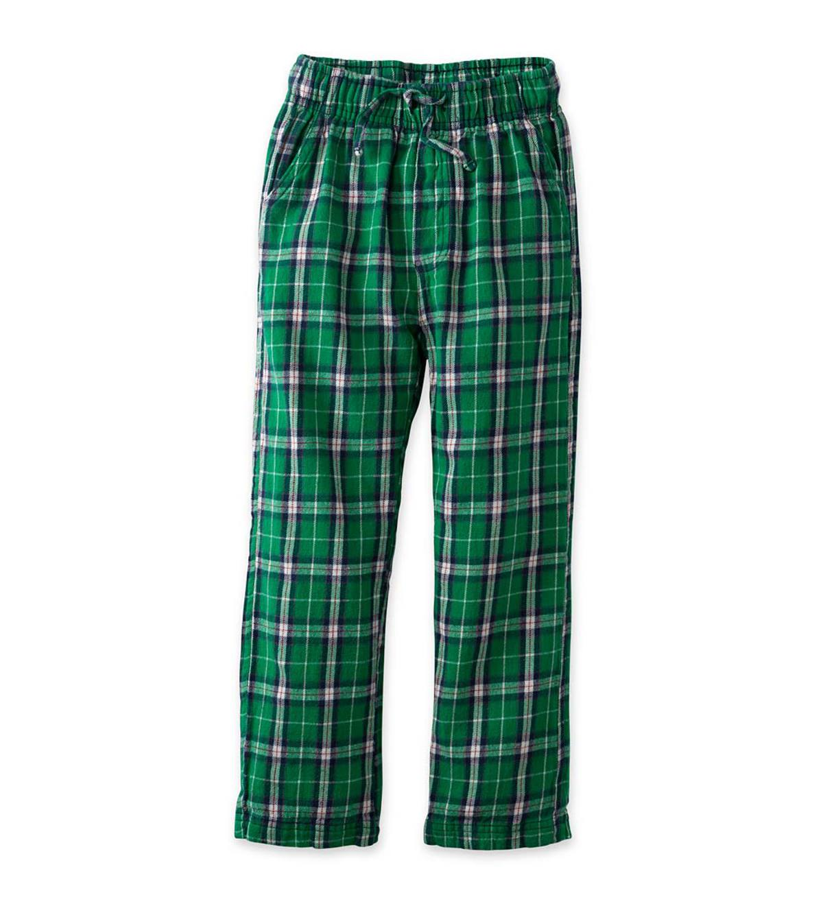 Plaid Pants - Green - 3T